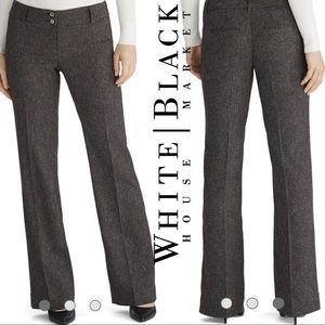 WHBM Charcoal Tweed Modern Career Trousers Bootcut